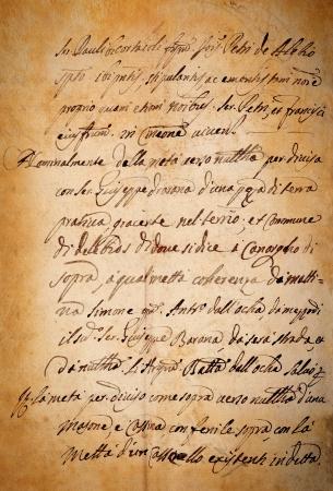 manuscrita: Manchado velho do papel do vintage manuscrito Banco de Imagens