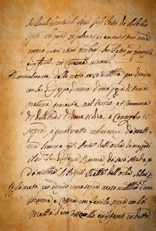 rękopis: Stained starego papieru rocznika rękopis Zdjęcie Seryjne