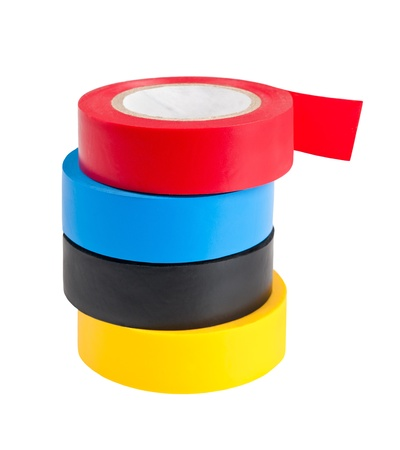 scotch tape: Adhesive tape on the white background  Stock Photo