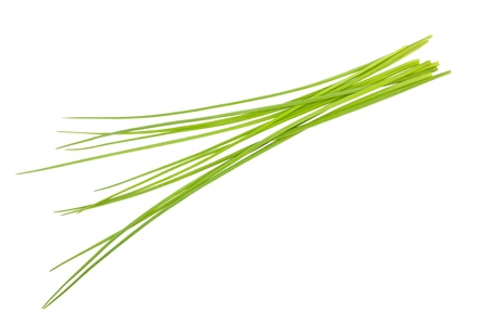 Chives bunch isolated on white Stock Photo