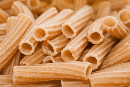 maccheroni: Organic whole group of maccheroni Stock Photo