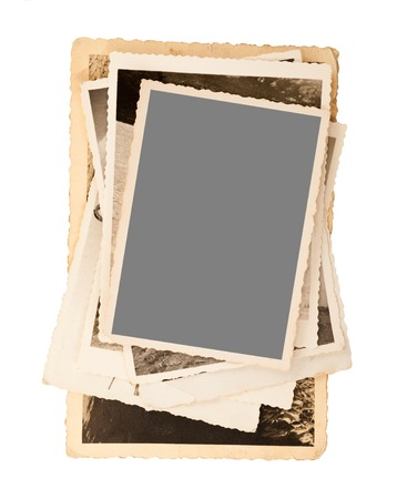 old pictures frame isolated on white photo