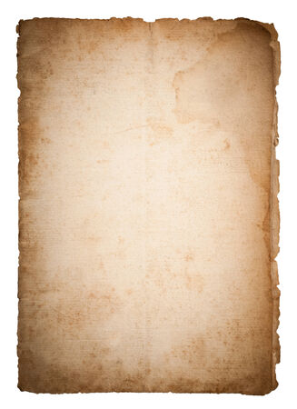 old papers: Dirty old paper isolated on white