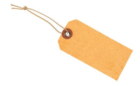 Etiquette met lint geà ¯ soleerd op wit