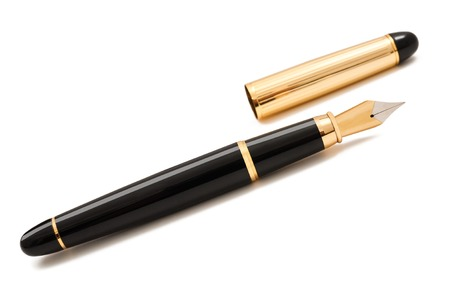 fountain pen: Fountain pen with cap isolated on white Stock Photo