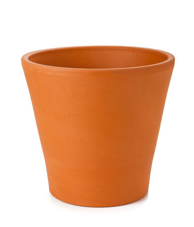 flowerpots: earthenware flowerpot isolated on white