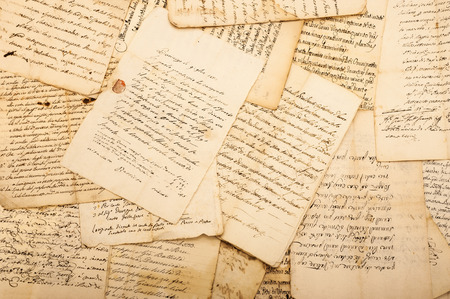 ヴィンテージの手紙の山 写真素材
