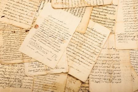 Mucchio di lettere d'epoca Archivio Fotografico