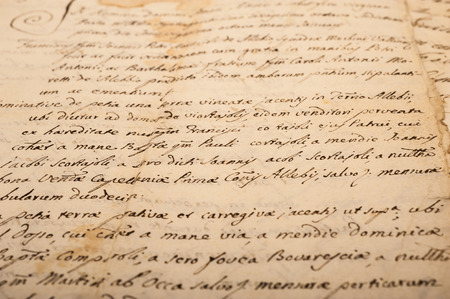 Old letter with vintage handwriting  Grunge background photo