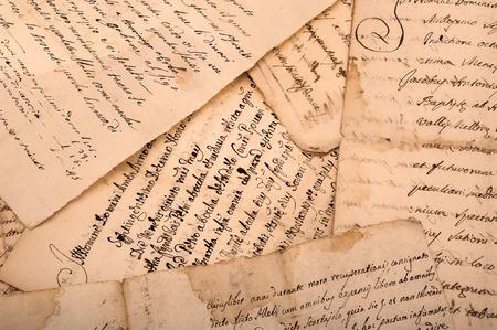 oude manuscripten geschreven op oude vuile lakens
