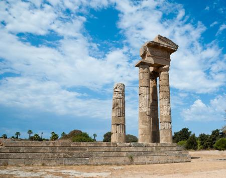 diosa griega: acropolis rodas, Ruinas del templo antiguo