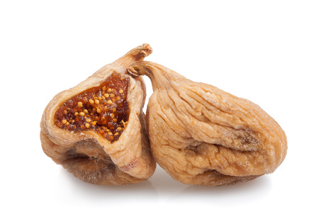 dried figs isolated on white background photo