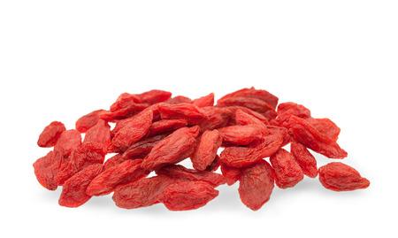 lycii: Goji berries isolated on white Stock Photo