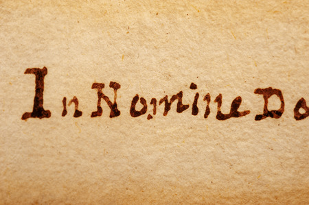 italics: written on an old parchment background