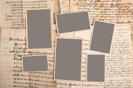 古い写真を古い手紙