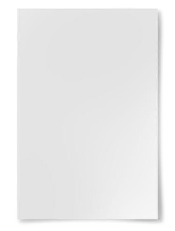 papier lettre: Feuille de papier blanc isol� sur fond blanc