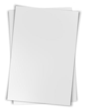 白い背景に分離されたホワイト ペーパー鋼矢板 写真素材