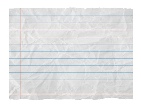 sheet of paper: Paper sheet with stripes isolated on  white Stock Photo