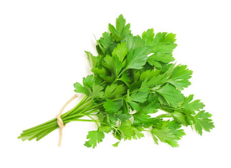 parsley bunch isolated on white background
