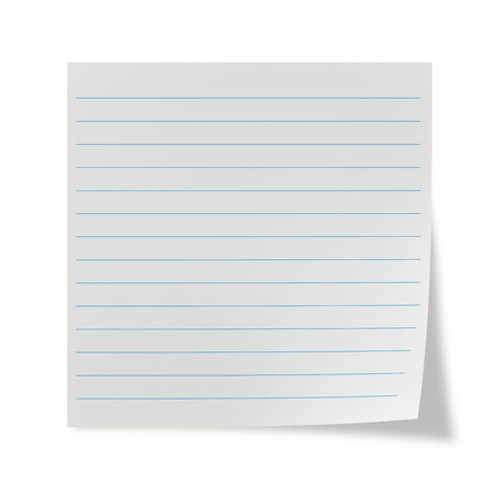 chit: White lined sheet on a white background