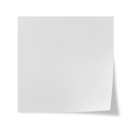 White post it on a white background