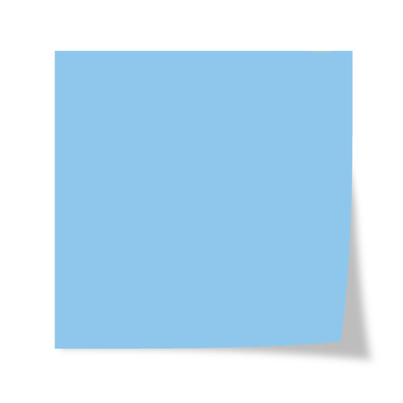 Blue post it isolated on a white background