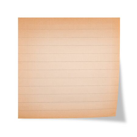 lined: Old striped sheet on a white background Stock Photo