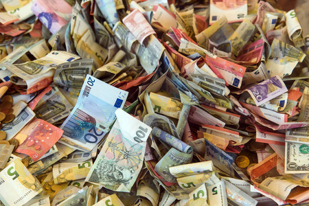 european money: background of various european money Stock Photo