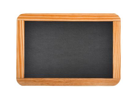 白い背景で隔離の黒板