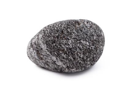 vulcanology: lava stone isolated on white background Stock Photo