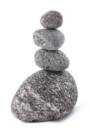 vulcanology: lava stones pile isolated on white background Stock Photo