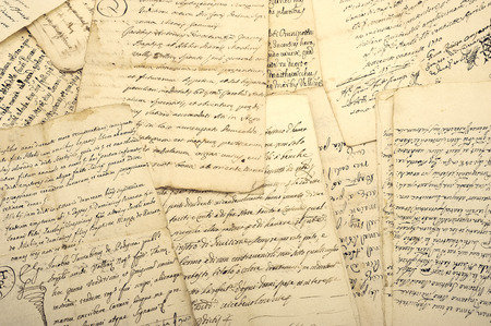 manuscripts: Pile of old vintage manuscripts