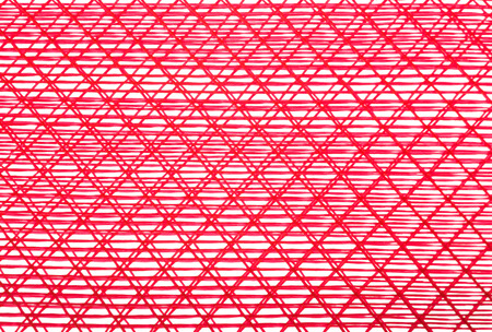 disorderly: background lines disorderly red on white Stock Photo