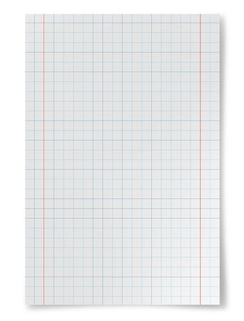 squared: White squared paper sheet background Stock Photo