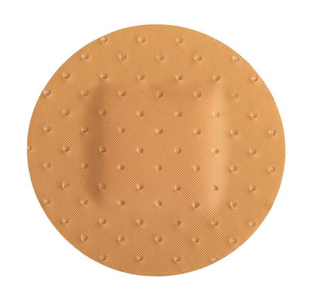 adhesive bandage: round plaster isolated on white background