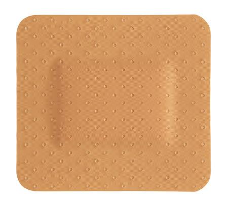 adhesivo de yeso cuadrado aislado en un fondo blanco Foto de archivo