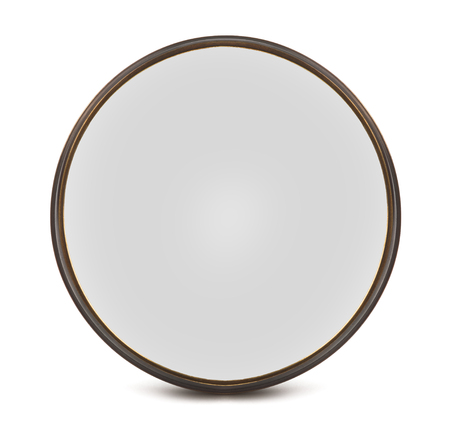 Vintage optical filter isolated on white background