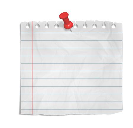 pedazo de papel con el espacio vacío aislado en blanco Foto de archivo