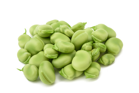 broad beans heap isolated on  white background