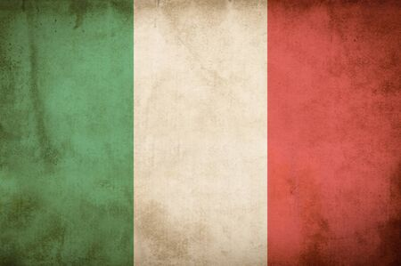 old flag: Old Grunge Flag of Italy