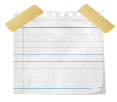 scotch: Piece of paper with adhesive tape