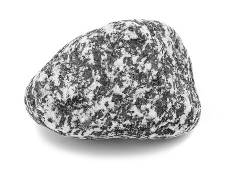 striated: granite Stone isolated on white background. Stock Photo