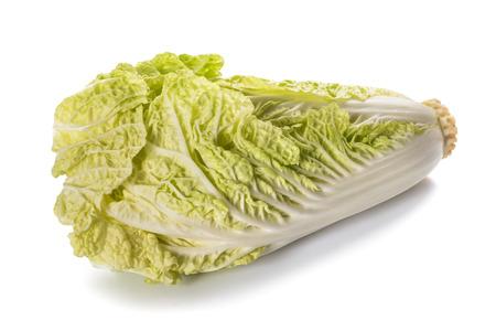 fresh chinese cabbage isolated on  white background Stock Photo