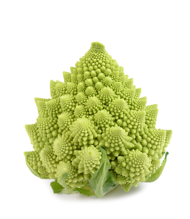Romanesque cauliflower isolated on white background