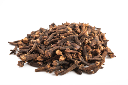 Cloves heap isolated on white background 写真素材
