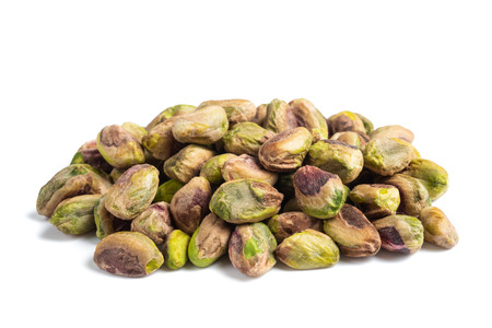 pistachios group  isolated on  white background