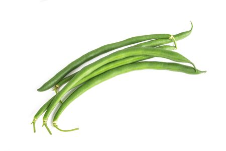green beans group isolated on white background 版權商用圖片