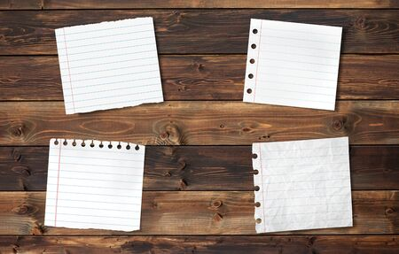 Note Paper  on wood background