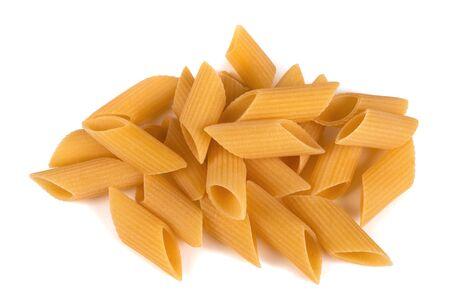 Rigatoni pasta isolated on white background 스톡 콘텐츠