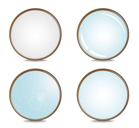 four optical filter isolated on white background Reklamní fotografie